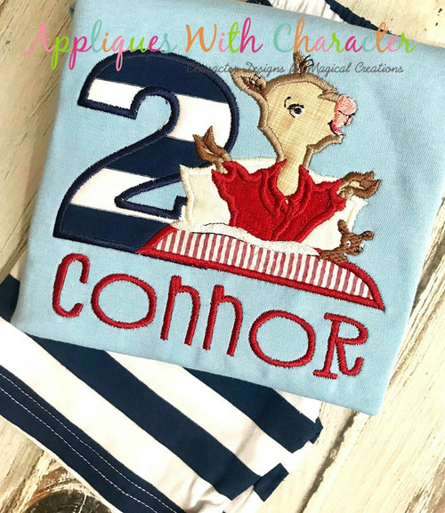 Llama Pajama Applique Design