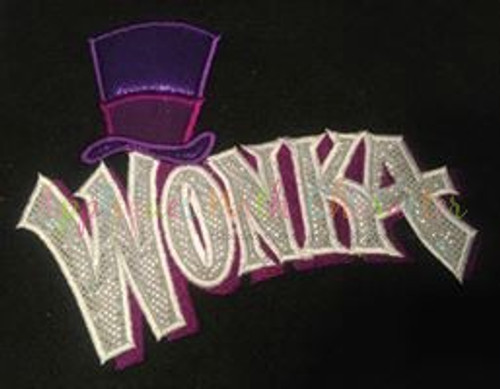 Willie Wonky Logo  Applique Design
