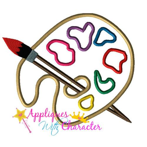Animators Palette Paint Palette Applique Design