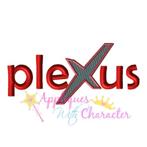 Plexus Logo Filled X Applique Design