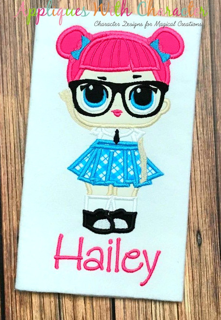 Teacher's Pet Doll Applique Design