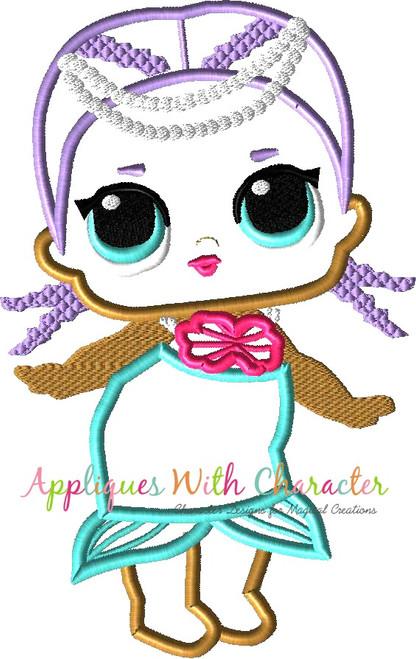 Mermaid Doll Applique Design