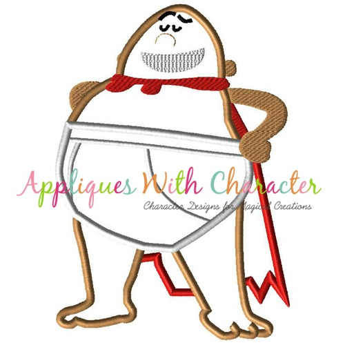 Captain Underwear Applique Design