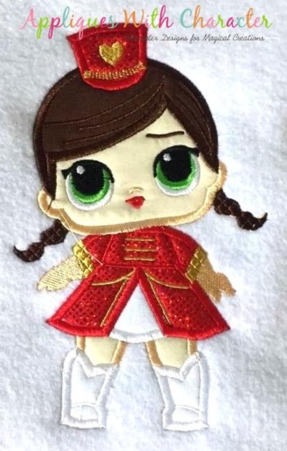 Majorette Doll Applique Design