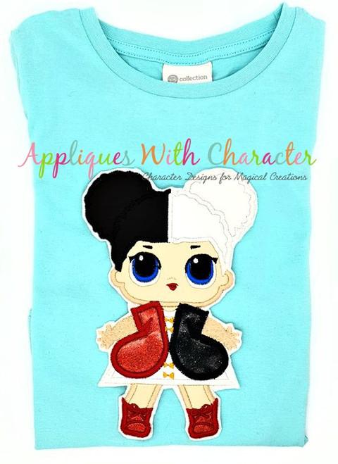 Heart Queen Applique Design