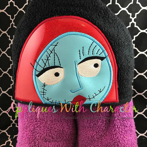 Nightmare Before Christmas Sally Peeker Applique Design