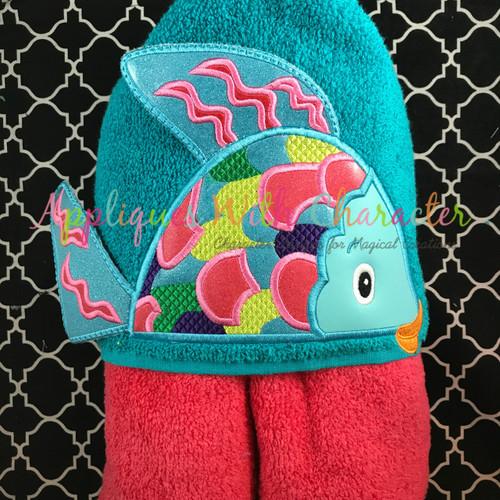 Colorful Fish 3D Peeker Applique Design