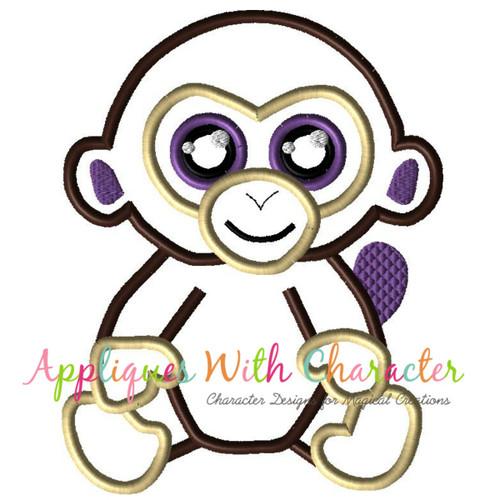 Beanie Monkey Applique Design