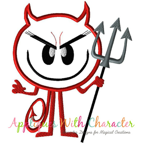 Emoji Devil Applique Design