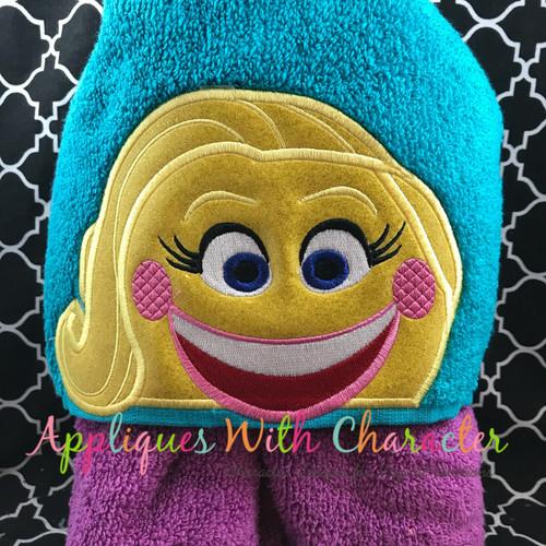 Emoji Smiley Peeker Applique Design