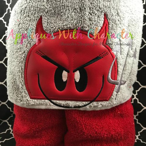 Emoji Devil Peeker Applique Design