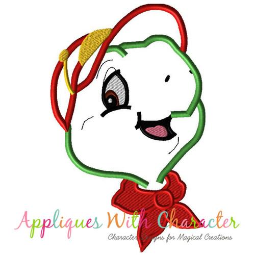 Frankie Turtle Face Applique Design