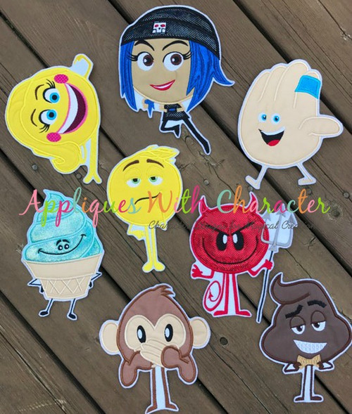 Emoji Movie Applique Design Set