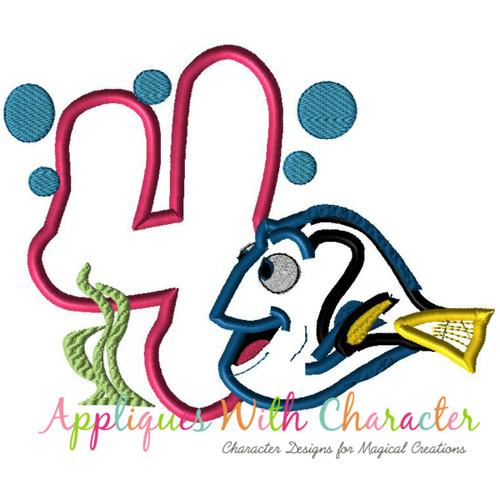 Dori Four Applique Design