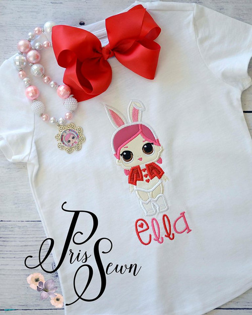Bunny Doll Applique Design