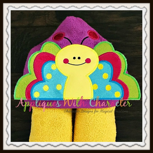 3D Butterfly Peeker Applique Design