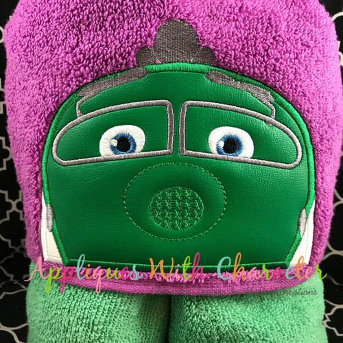 Chug Green Train Peeker Applique Design