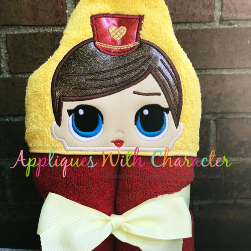 Majorette Doll Peeker Applique Design
