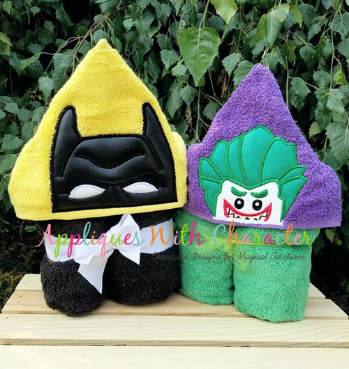 Bat & Joker Block Peeker Applique Design Set