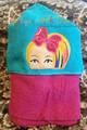 Jo Rainbow Hair Peeker Applique Design