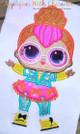 Neon Doll Applique Design