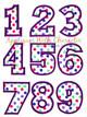 Set of Numbers Applique Design