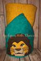 Lion Royalty Mufasa Lion Peeker Applique Design