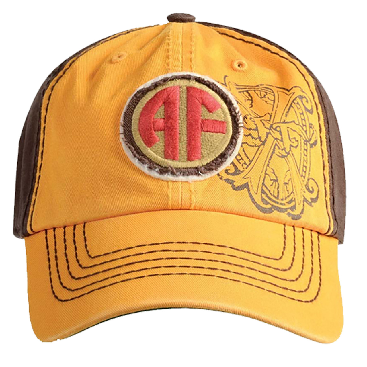 4cf6ce12d02 ARTURO FUENTE AF OPUS X LOGO BASEBALL HAT - GOLD AND BROWN  63063.1529821282.jpg c 2 imbypass on