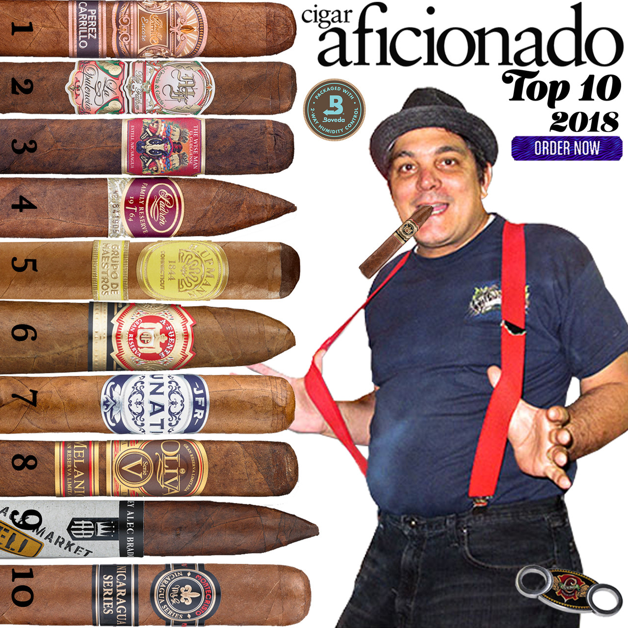 2018 Top 10 Cigars by Cigar Aficionado