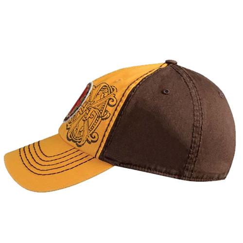 3401840c176 ... Arturo Fuente AF Opus X Logo Baseball Hat - Gold and Brown SIDE