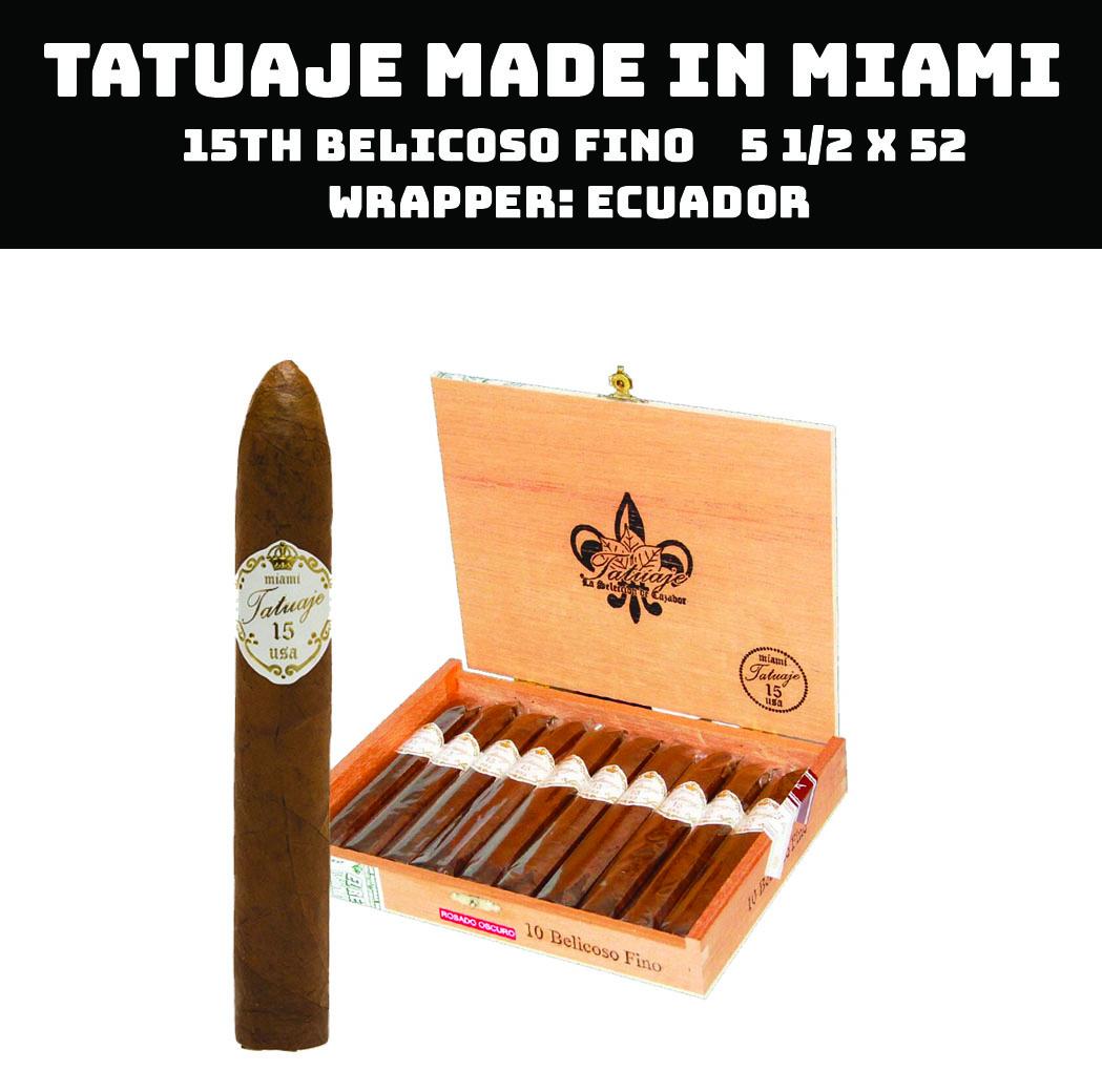 Tatuaje Miami | 15th Belicoso Fino Claro