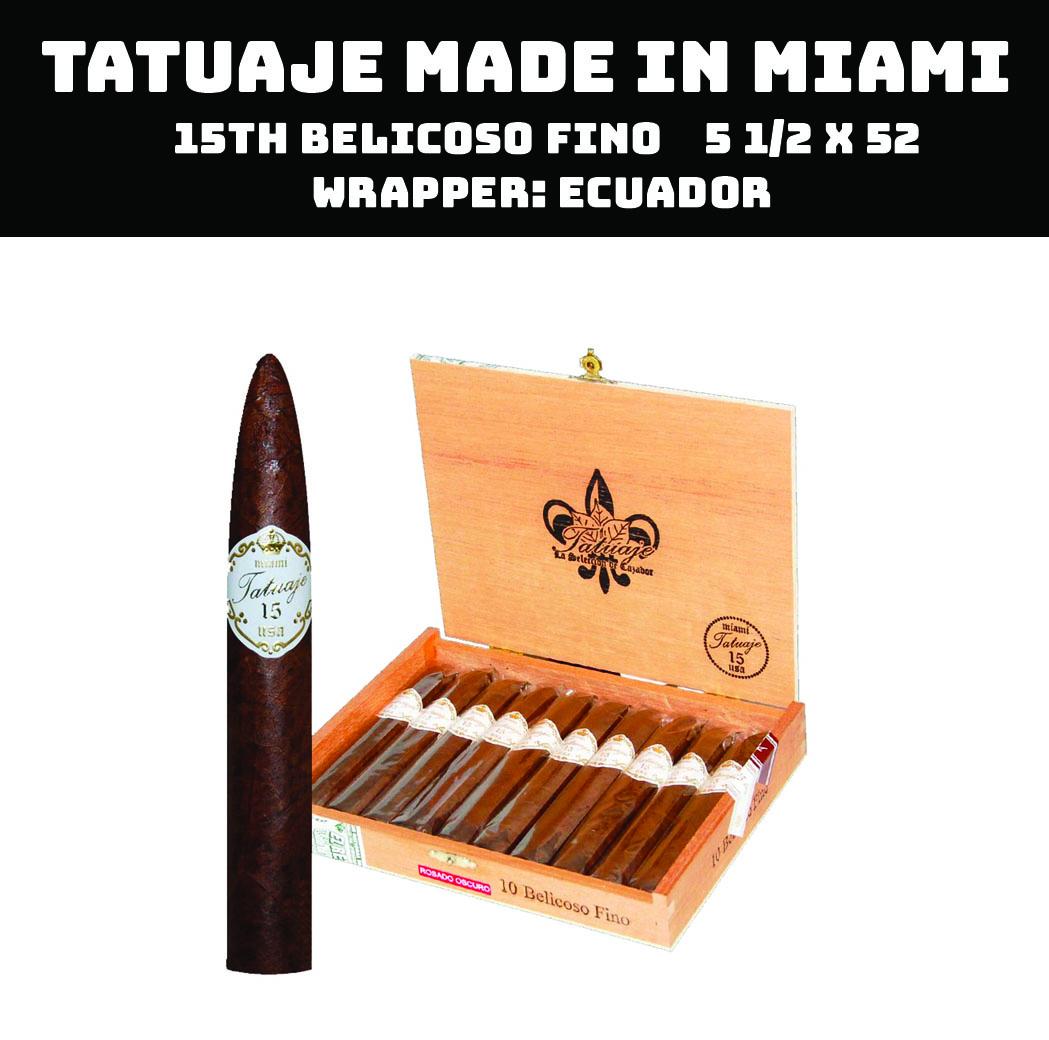 Tatuaje Miami | 15th Belicoso Fino Oscuro