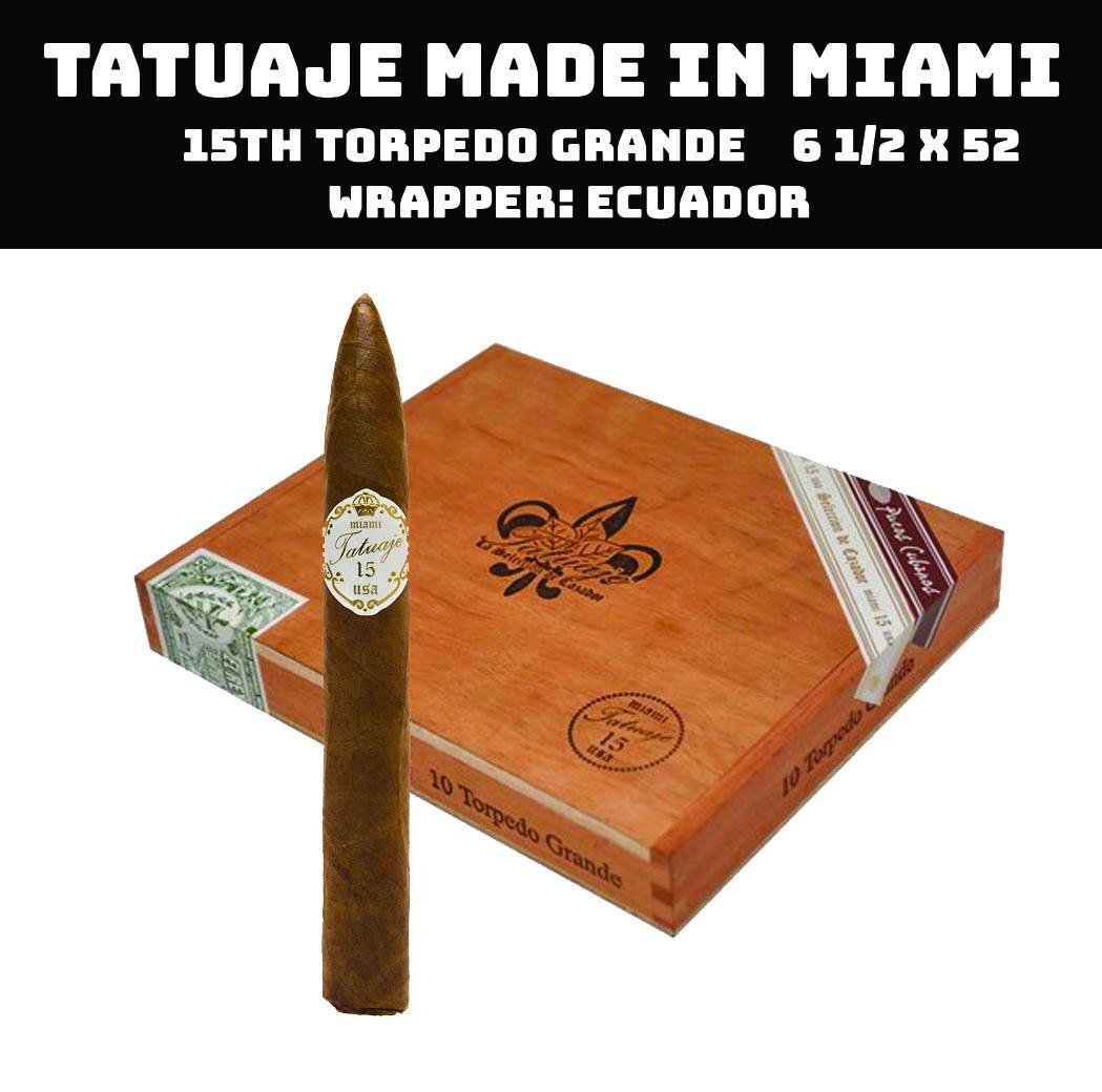 Tatuaje Miami | 15th Torpedo Grande Claro