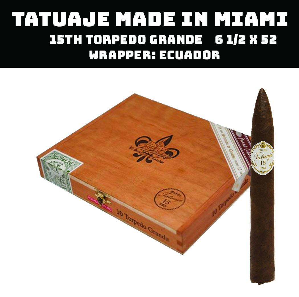 Tatuaje Miami | 15th Torpedo Grande Oscuro