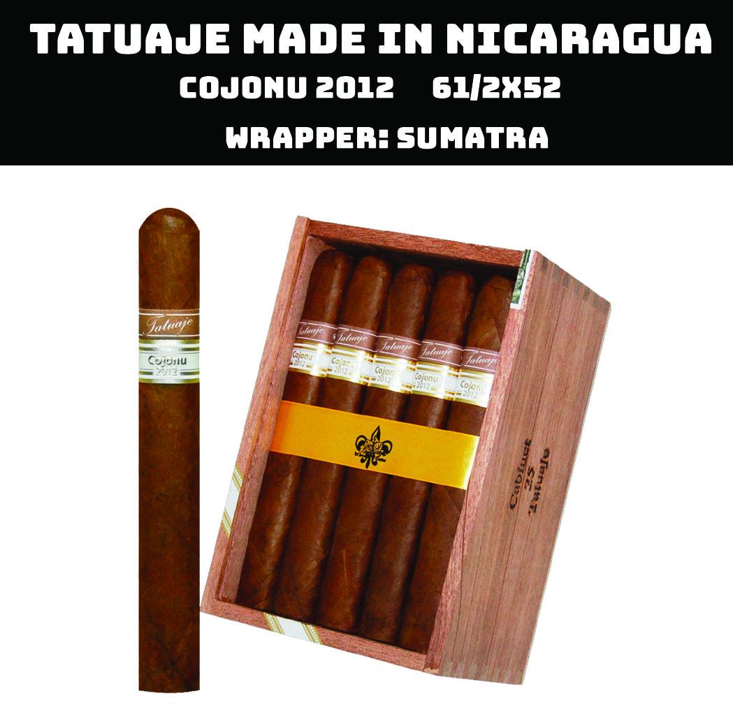 Tatuaje Nicaragua | Cojonu 2012 Sumatra