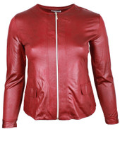 K-31 LEATHER LOOK WINE RED 032