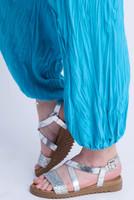 D-21 - Trouser Easy Crush-  Turquoise - 011
