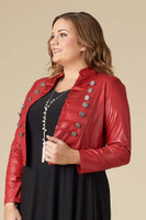 K-5002 -Jacket Double Button-LL-B.Red -015
