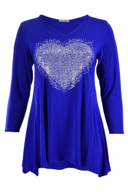 C-903 - SILVER - HEART - COBALT BLUE -060
