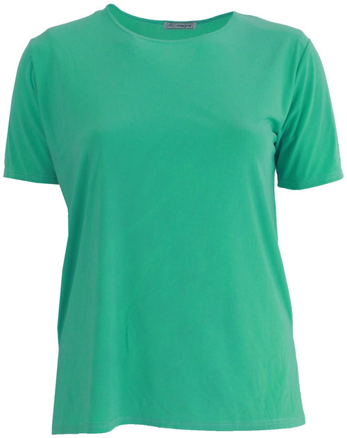 B-04 - Basic V-neck S/S - D.Mint - 067