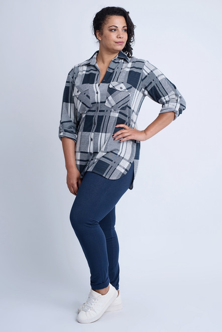 B-7031- BUTTON UP TOP - WFP - 464-017