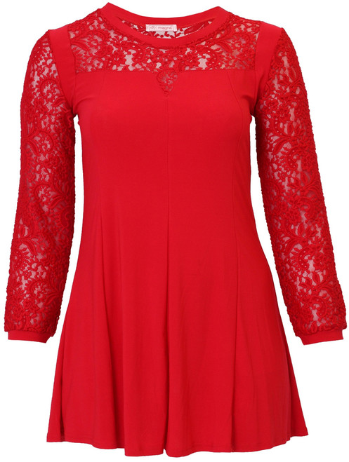 C-4008 - TUNICA VICTORIA - Lace-B.Red- 015