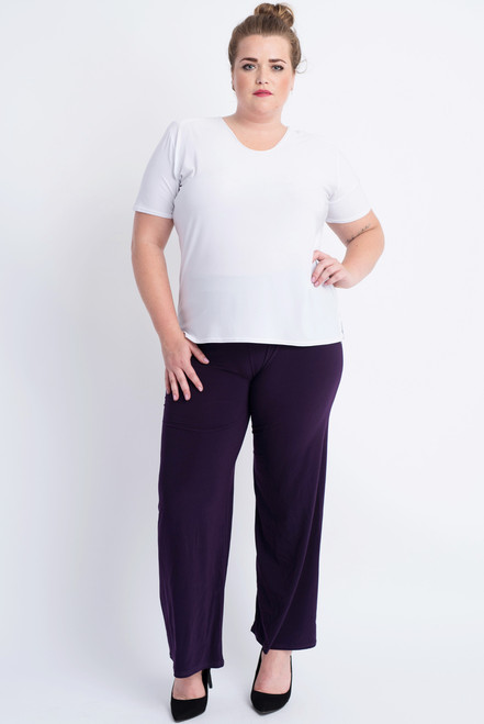 D-03 - Trouser Basic-D.Purple - 059