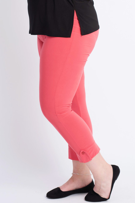 F-03 - Legging 1 button-D.Coral - 066