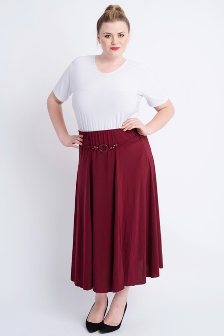 G-11 - Skirt Buckle-Wine Red - 032