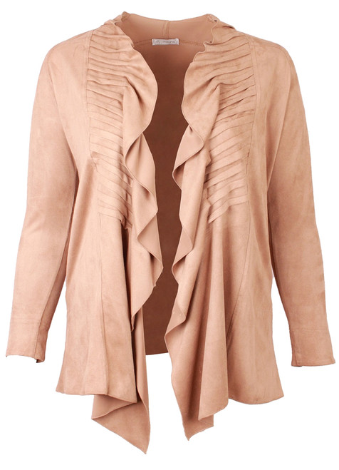 N-4002 Suede Feel Jacket - TAUPE - 061