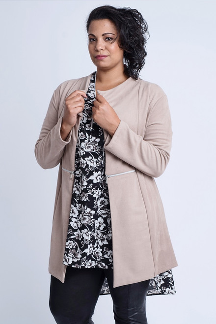 N-6003 - Blazer Petronella - Suede-Taupe-061
