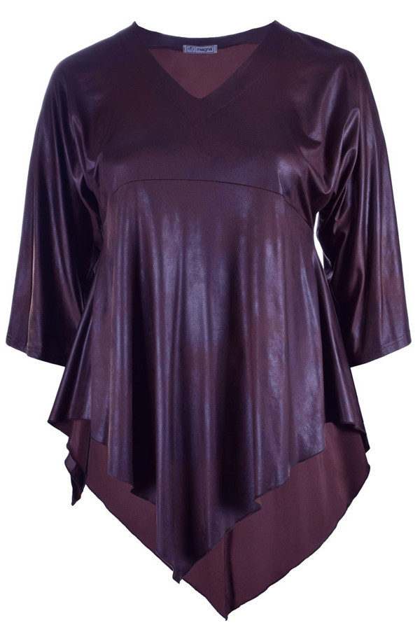 B-119 Leather Look D. Brown - 064
