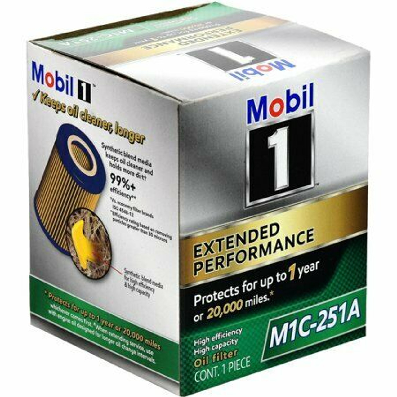 Mobil 1 Oil Filter >> M1c 251a Mobil 1 Ep Oil Filter Protects Up To 1 Year Or 32000km R2648p