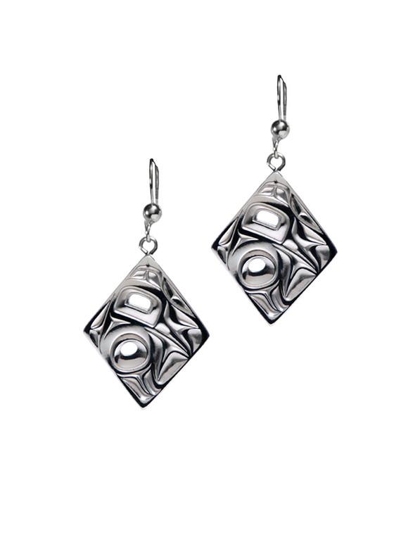 Silver Pewter Hummingbird Earrings